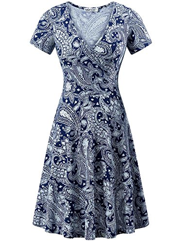MSBASIC Dress with Flowers, Dress for Graduation for Women Cashew Flowers L