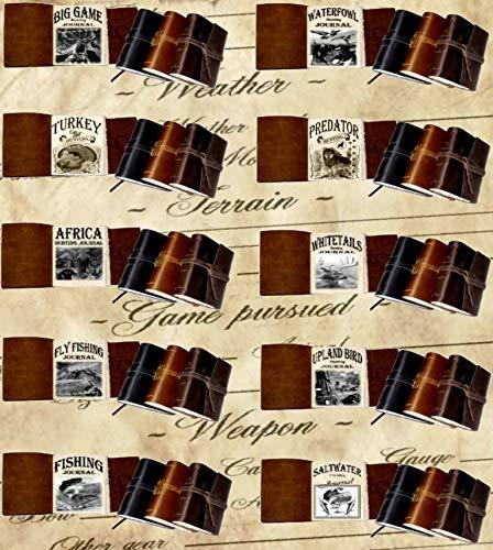 Leather Fly Fishing Journal, Rustic Handmade, Dark Brown