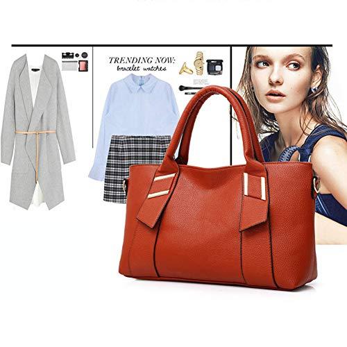 Messenger Luckyccdd Moda In Card Da black Set Tracolla Borsa Portatile Red A Borse Donna Pelle 3 Di qxTqHOnw