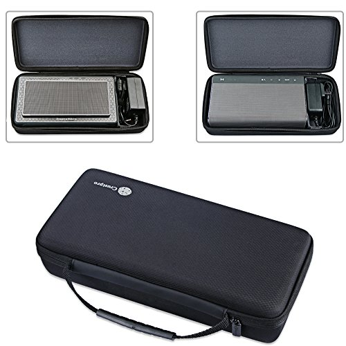 Zaracle Portable Storing Bag Carrying Case Protective Pouch Sleeve Box Cover Sheath for B&W Bowers&Wilkins T7 Bluetooth Speaker/Creative Sound Blaster Roar 1 Roar 2 Bluetooth Speaker