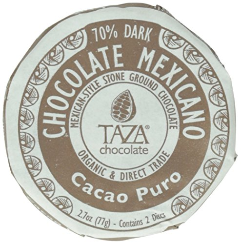 Taza Chocolate | Mexicano Disc |  Dark Chocolate | Certified Organic | Non-GMO | 2.7 Ounce