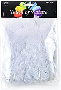 14gm Black//White Touch of Nature 4 to 6-Inch Turkey Flat Feathers for Arts and Crafts