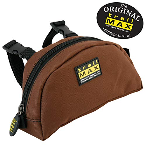 TrailMax Original Pommel Pocket Saddle Bag for Western or Endurance Saddle, 600D Polyester with a PVC Coating for Water Resistance, Durability & UV Protection, Brown