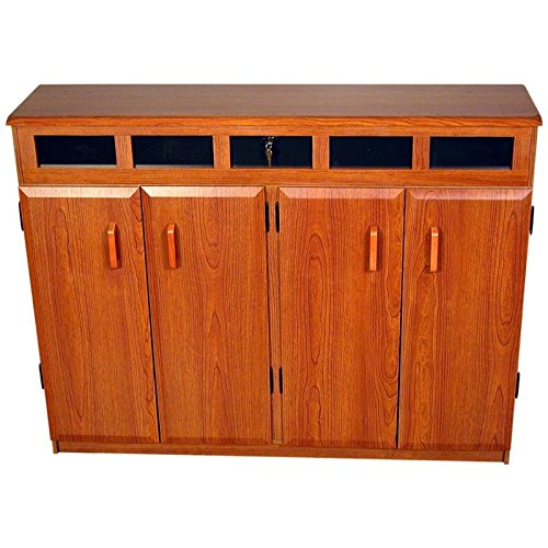 Storage Top Load Media - Venture Horizon Top Load CD DVD Media Storage Cabinet in Cherry