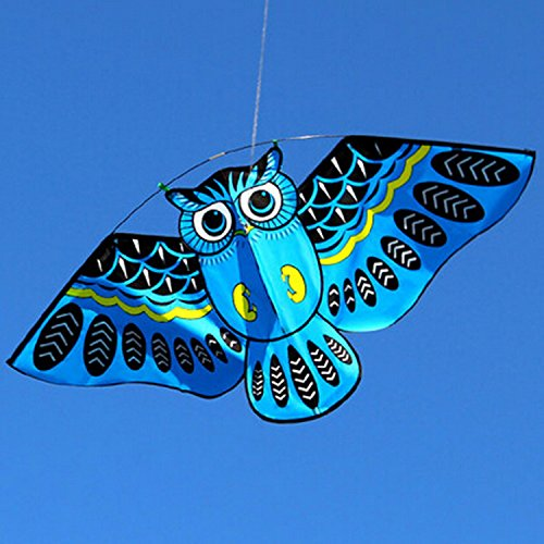 Blue Owl Kite With Handle Line Outdoor Toys Colorful Birds Flagship Store, Weifang Simulation Bat Little (Devil Man Adult Vest)