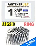 """1 3/4"""" Ring A153-D HOT DIP Coil Roofing Nails"""