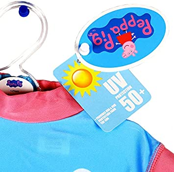Peppa Pig UV 50 Sun Protection Swimsuit Boys Girls One Piece Swimming Costume
