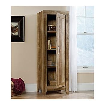Sauder 418137 Storage Cabinet, Furniture Adept Narrow, Craftsman Oak