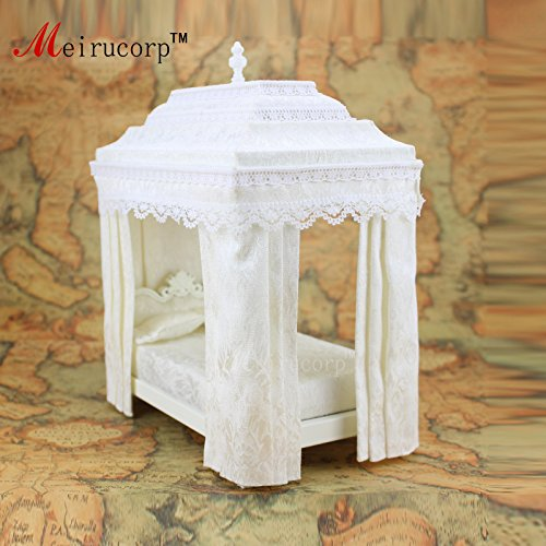 1/12 scale Dollhouse miniature furniture Retro European Palace bedroom bed 10339 by Meirucorp