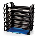 Achieva Side Load Letter Tray, Recycled, Black, 6 Pack (26212) (3, BLACK)