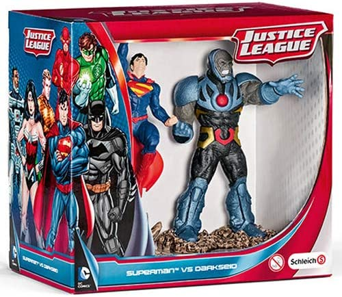 "DC COMICS SUPERMAN VS DARKSEID SET 5/"" SCHLEICH JUSTICE LEAGUE PVC FIGURE"