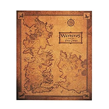 Chitop Game of Thrones Westeros Map - Retro Kraft Paper Poster Interior Bar Cafe Decorative Painting
