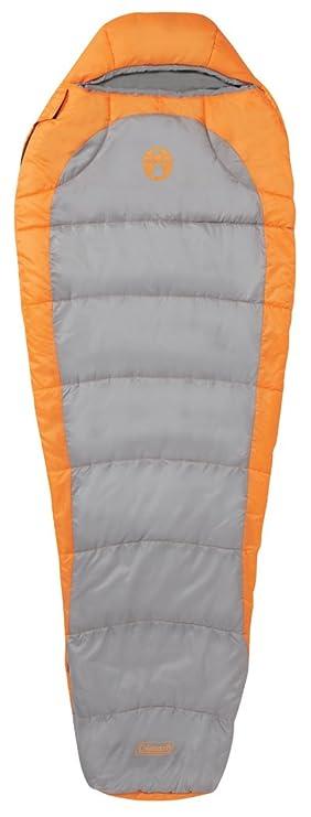 Coleman Telluride 100 - Saco de Dormir Momia para Acampada, Color Naranja, Talla 208