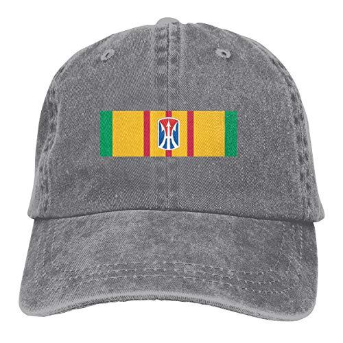 11th Infantry Brigade Vietnam Men Women Classic Cotton Denim Baseball Cap Adjustable Plain Cap Gray