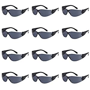 TRUST OPTICS 12 Pack Impact and Ballistic Resistant Safety Protective UV400 Sunglasses with Shatterproof Lenses