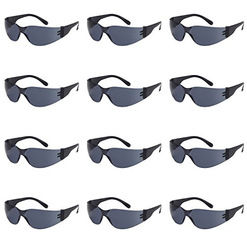 TRUST OPTICS 12 Pack Impact and Ballistic Resistant Safety Protective UV400 Sunglasses with Shatterproof - Are Sunglasses Safe