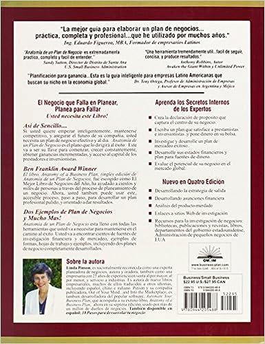 Amazon.com: Anatomía de un Plan de Negocio: Una Guía Gradual para ...