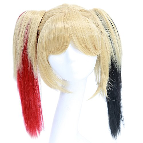 Harley Quinn Wig Cosplay Costume Wig Hair Accessories Halloween Coslive (Harley Quinn Arkham City Halloween Costume)