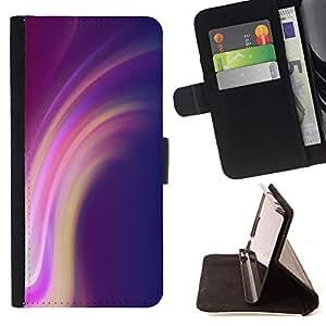 Líneas Púrpura Rosa Amarillo- Modelo colorido cuero de la carpeta del tirón del caso cubierta piel Holster Funda protecció Para Apple (4.7 inches!!!) iPhone 6 / 6S