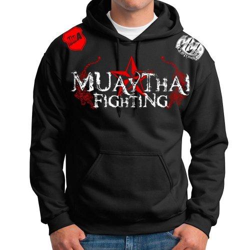 (Muay Thai Pullover Hoodie Sweatshirt Sweater Jumper Jacket Top Tapout UFC MMA Brazilian Jiu Jitsu Size Medium)