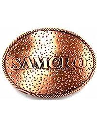 100% AUTHENTIC LICENSED METAL BELT BUCKLE 'SOA-SAMCRO-BIKER'- SOA9002BK US