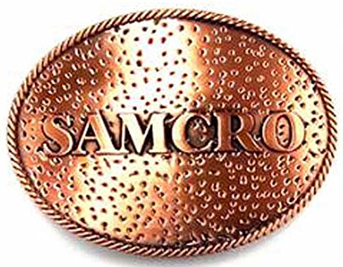 100% AUTHENTIC LICENSED METAL BELT BUCKLE 'SOA-SAMCRO-BIKER'- SOA9002BK US ()