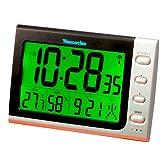 GENTOS(ジェントス) WAVECATCHER 電波デジタル目覚まし時計 温度湿度計付き ブラック SAR816-BK