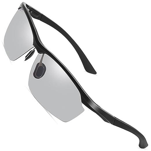 f9b28f6d062 Unisex Photochromic Polarized Sunglasses For Men Women Sports Fishing Driver  Metal Sunglasses Black