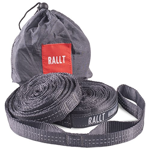 Hammock Tree Straps - 2000+ LB Breaking Strength, 20 Feet Long, 36 Loops. 100% No Stretch Polyester Suspension Straps Like Python and ENO Atlas Straps (No Carabiners) (Furniture Main Cottage)