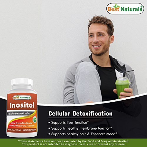 Inositol Powder 4 OZ by Best Naturals - Pure Crystalline Powder by Best Naturals: Amazon.es: Salud y cuidado personal