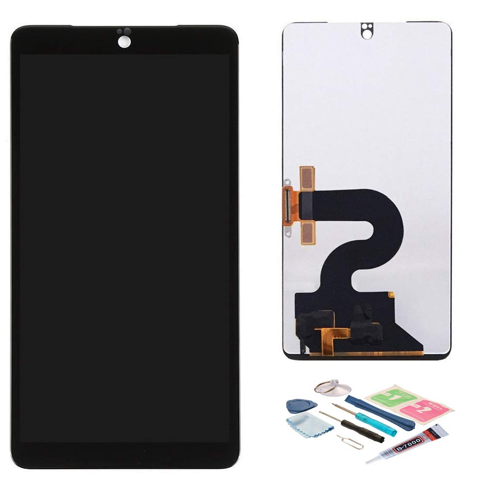 XR MARKET Compatible Essential Phone PH-1 Screen Replacement, LCD Display Touch Screen Digitizer Assembly, for A11 5.7'', with Tools, Glue(Black)