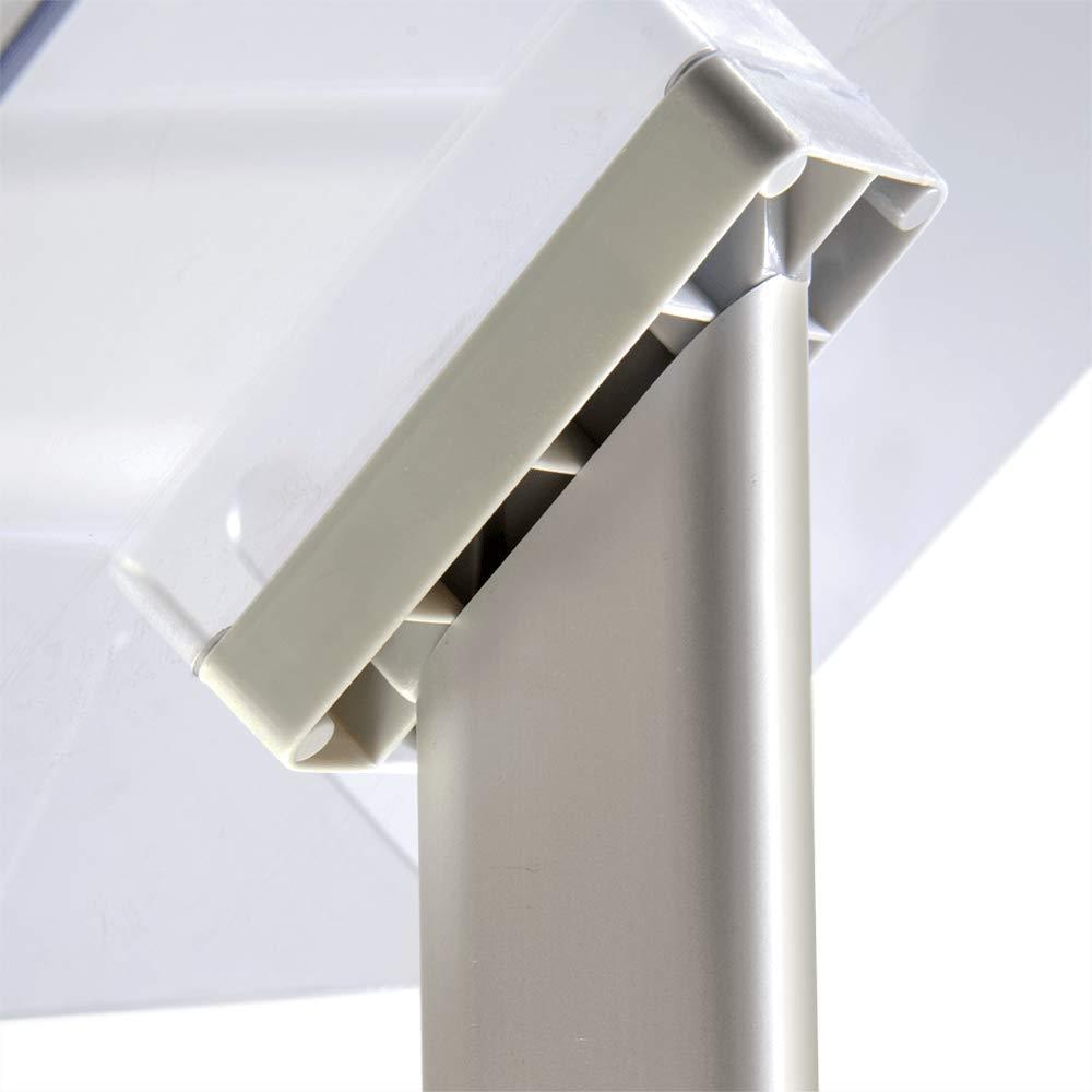 Soporte para folletos Deluxe con compartimento de vista previa - formato contrariar DIN A4 - Estante de alta calidad con estilo de Mydisplays - altura ...