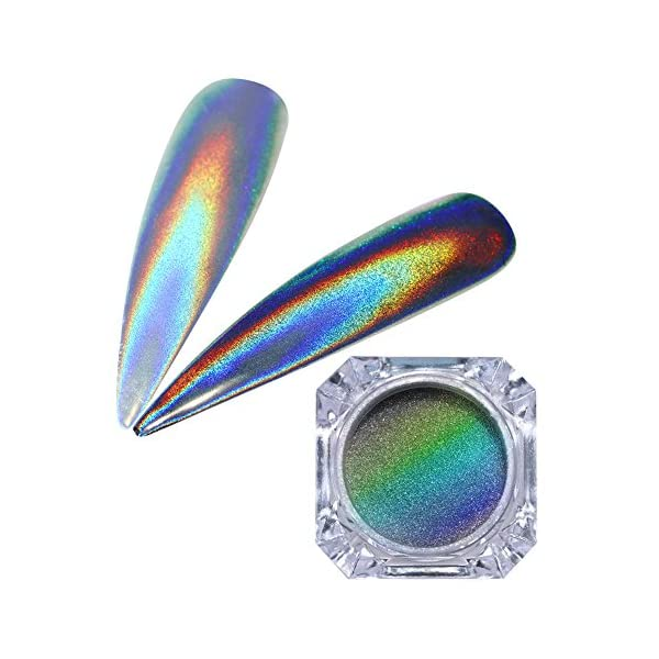 BORN PRETTY 9 Boxes Pearl Powder Nail Mirror Effect Colorful Nails Art Glitter Iridescent Metallic Manicuring Pigment 1G 2