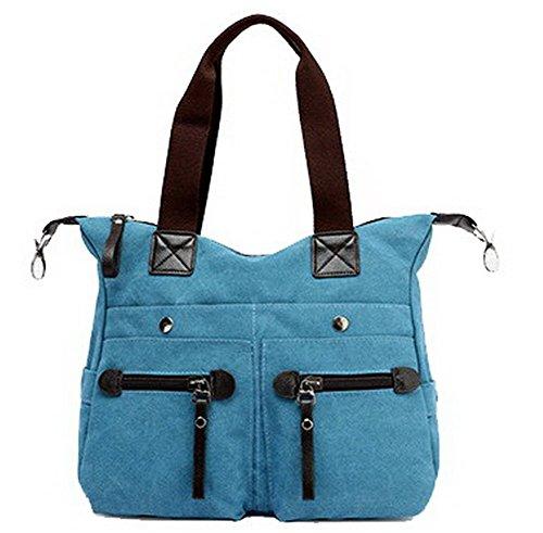 VogueZone009 Bleu tout Travail CCAFBO181400 bandoulière Sacs Femme voyages à Bleu Sacs fourre Courts qrT6qnHw