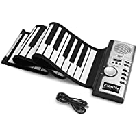 Lujex Foldable 61 Keys Flexible Soft Electric Digital...