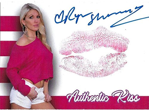 Ryan Shamrock Signed w/Lip Print Kiss Card WWE Diva Autograph Benchwarmer Model - Autographed Wrestling Cards from Sports Memorabilia