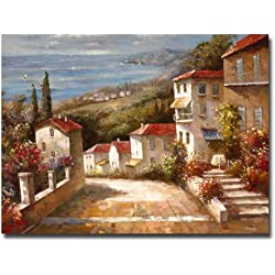 Home in Tuscany Artwork by Joval, 24 by 32-Inch Canvas Wall Art