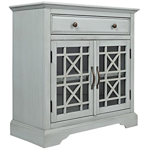 Pemberly Row Craftsman Accent Cabinet in Earl Gray PR-1633617