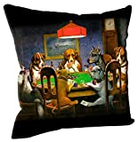 Coolidge Dogs Playing Poker Home Decorative Throw Pillow