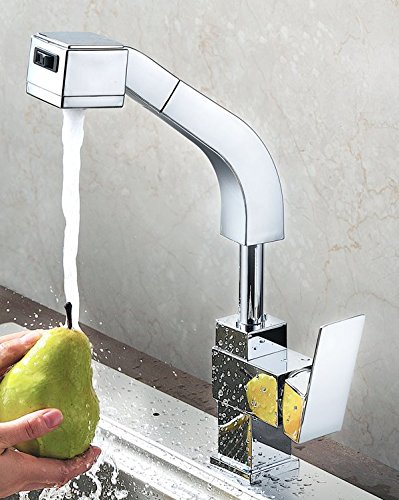 AWXJX Sink Taps Hot and cold copper Pull out kitchen Wash your face