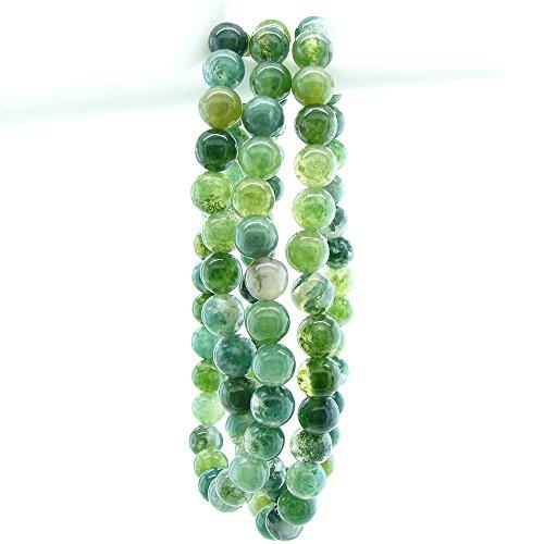 Agate Green Stone Handmade Strand Bracelets