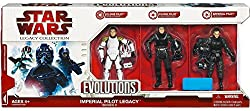 Star Wars, 2009 Legacy Collection, Exclusive Evolutions Set, Imperial Pilots Legacy Series Ii (2), 3-pack, 3.75 Inches