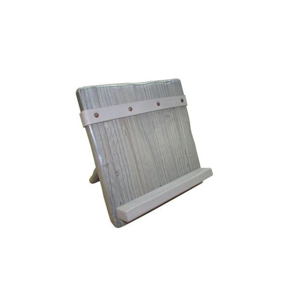 Wooden Cookbook Stand - iPad Holder - Grey
