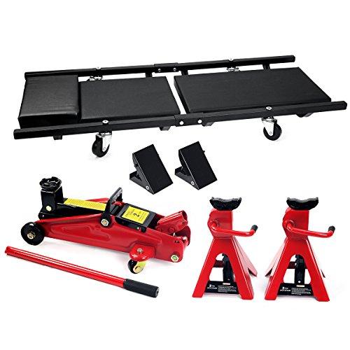 Stkusa 2 Ton Floor Jack Combo Jack Garage Kit Vehicle