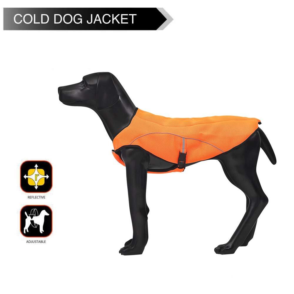 M VC15OSPet Outdoor Windproof Dog Jacket Dog Fashion Coat with Reflective Stripe