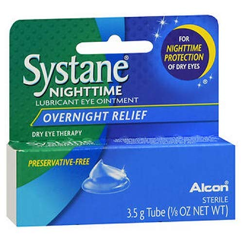 Systane Nighttime Lubricant Eye Ointment-0.123 oz, 3.5g, 2 ()