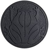 Home Furnishings by Larry Traverso Rubber Frog Garden Stepping Stone, 11-3/4-Inches, Black