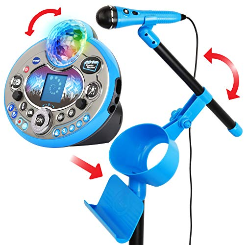 VTech Kidi Star Karaoke System 2 Mics with Mic Stand & AC Adapter, Blue by VTech (Image #1)