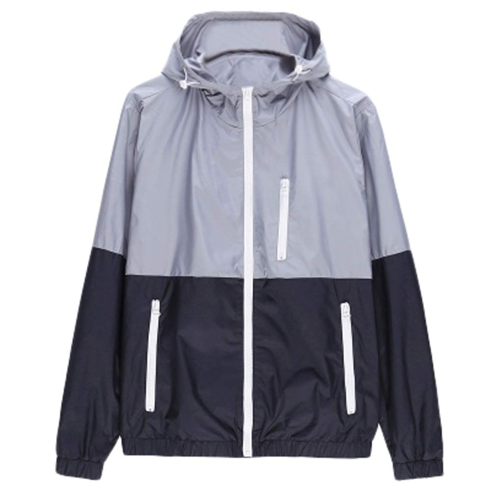 Mens Casual Jacket Outdoor Sportswear Windbreaker Lightweight Bomber Jackets and Coats WuyiMC_20182019