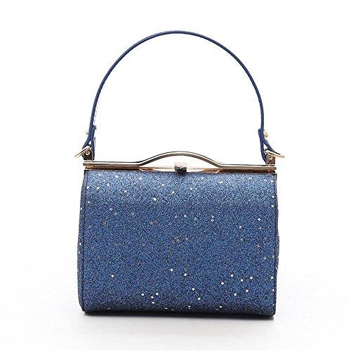 Blue GWQGZ Lady Handbag Nueva Negro Moda qxYgF